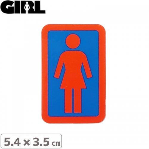 【GIRL ガールスケートボード STICKER ステッカー】BOX LOGO STICKER 5.4cm x 3.5cm NO122