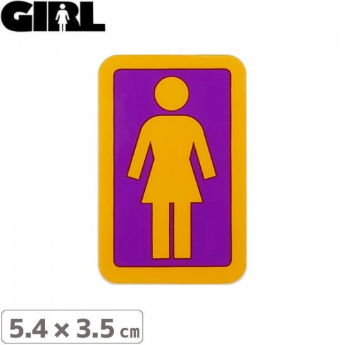 【GIRL ガールスケートボード STICKER ステッカー】BOX LOGO STICKER 5.4cm x 3.5cm NO123