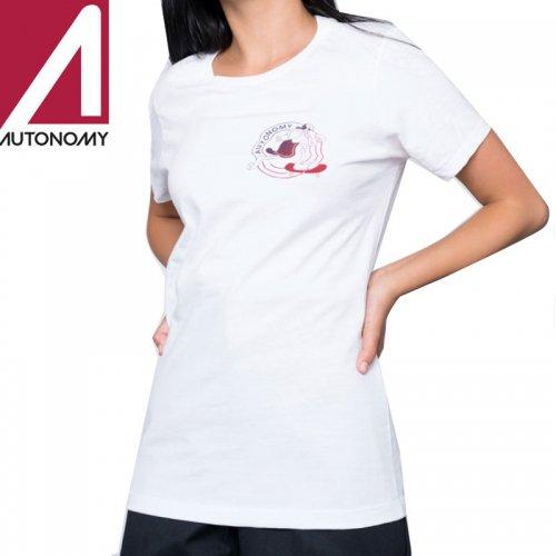 【オートノミー AUTONOMY レディース Tシャツ】OLIVIA CLASSIC TEE【ホワイト】NO4