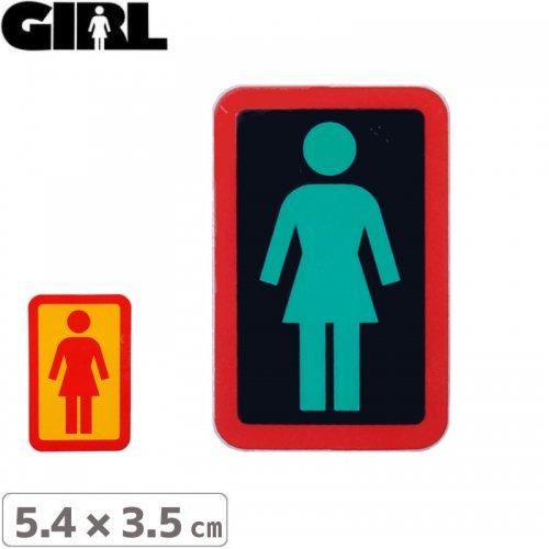 【GIRL ガールスケートボード STICKER ステッカー】BOX LOGO STICKER 5.4cm x 3.5cm NO125
