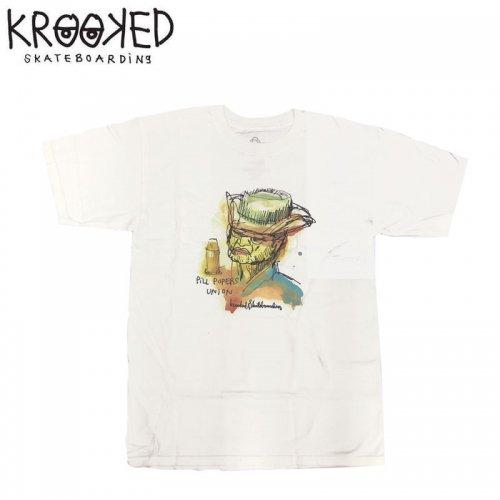 半額セール【KROOKED クルックド スケートボード Tシャツ】PILL POPERS S/S TEE【ホワイト】NO89