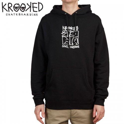 半額セール【KROOKED クルックド スケボー パーカー】KD ULTRA HOODIE【ネイビー】NO12