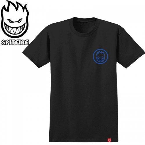 半額セール【SPITFIRE キッズ Tシャツ】CLASSIC SWIRL YOUTH TEE ユースサイズ 【ブラック×ネイビー】NO57