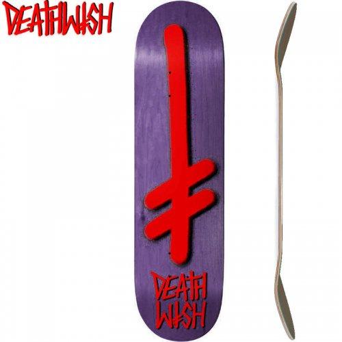 【デスウィッシュ DEATH WISH スケボー デッキ】GANG LOGO VENEERS DECK[8.0インチ]パープル NO107