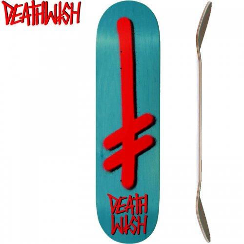 【デスウィッシュ DEATH WISH スケボー デッキ】GANG LOGO VENEERS DECK[8.0インチ]ティールグリーン NO108