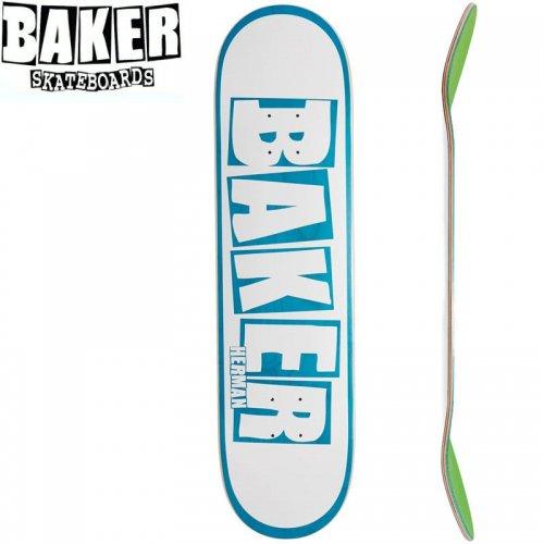 【ベーカー BAKER スケボー デッキ】HERMAN BRAND NAME DECK[8.0インチ]ホワイト ブルー NO271
