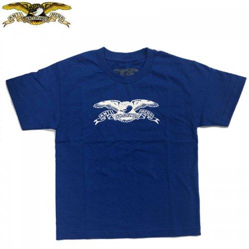 半額セール【スケボー ANTIHERO キッズ Tシャツ アンチヒーロー】BASIC EAGLE TEE【ロイヤルブルー】NO10