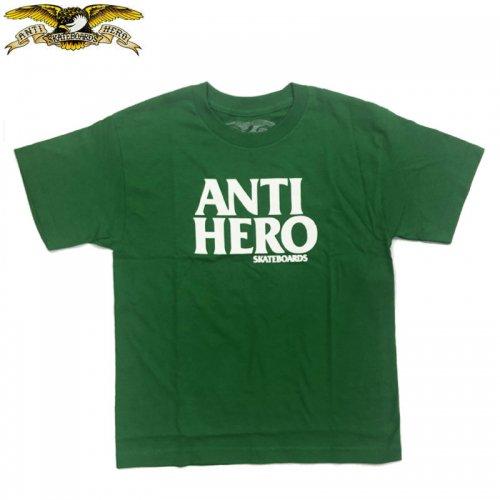 半額セール【スケボー ANTIHERO キッズ Tシャツ アンチヒーロー】LONG BLACKHERO TEE【グリーン】NO14