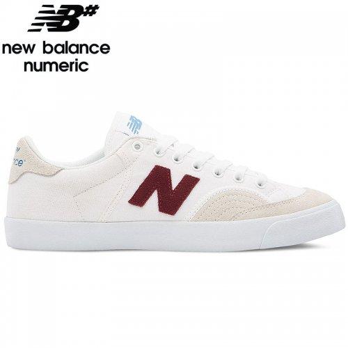 【NEW BALANCE NUMERIC ニューバランス シューズ】NM212BGB SHOES スウェード/キャンバス【ホワイト/バーガンディ】NO31