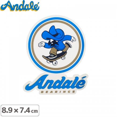 【アンデール ANDAL スケボー ステッカー】ANDAL LOGO STICKER【8.9cm x 7.4cm】NO1