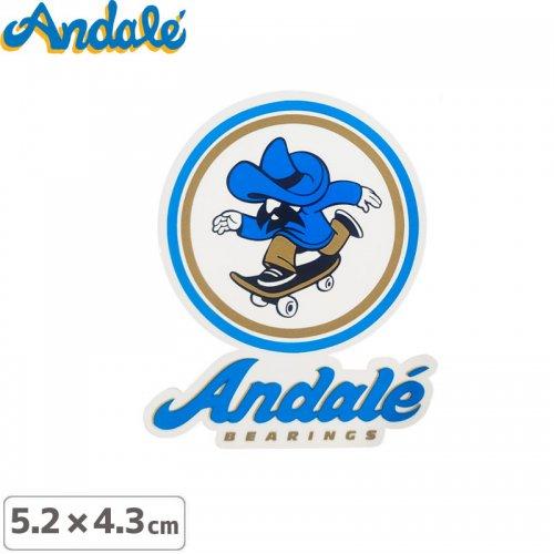 【アンデール ANDAL スケボー ステッカー】ANDAL LOGO STICKER【 5.2cm x 4.3cm】NO3