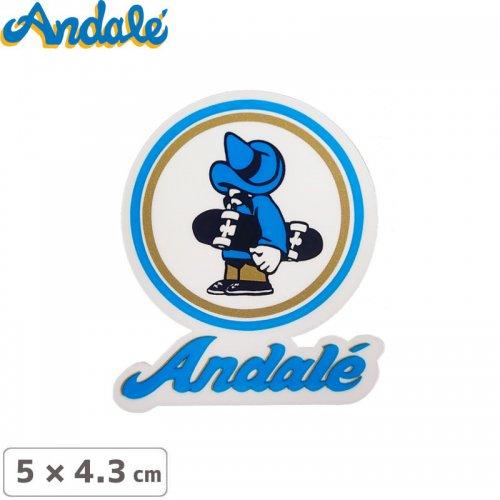 【アンデール ANDAL スケボー ステッカー】ANDAL LOGO STICKER【 5cm x 4.3cm】NO4