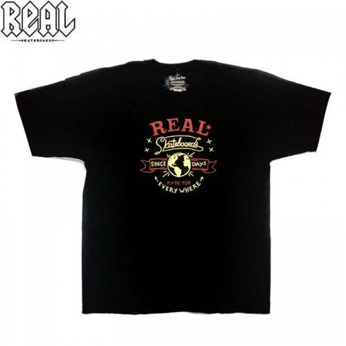 半額セール【REAL リアル スケートボード Tシャツ】MADE FOR EVERYWHERE TEE【ブラック】NO65