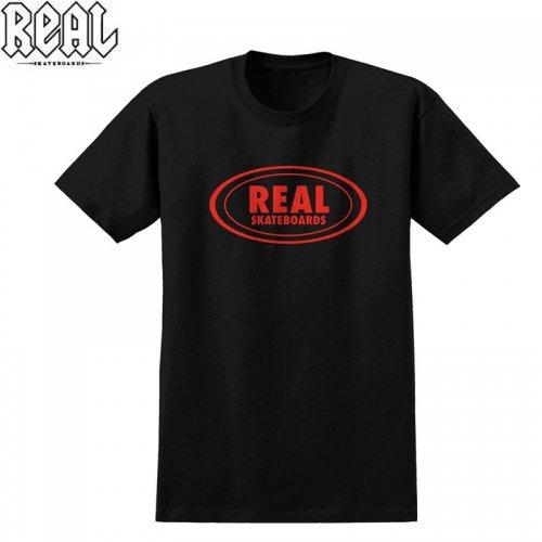 半額セール【REAL リアル スケートボード Tシャツ】OVAL OUTLINE TEE【ブラック】NO70