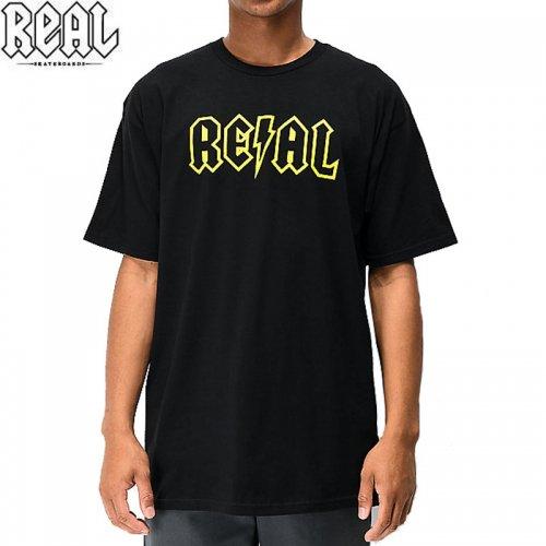 半額セール【REAL リアル スケートボード Tシャツ】DEEDS OUTLINE TEE【ブラック】NO72