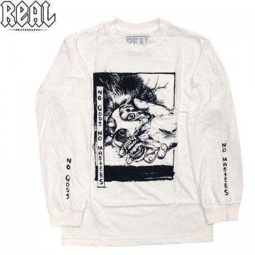 半額セール【REAL リアル スケートボード  ロング Tシャツ】ZINE L/S TEE【ホワイト】NO4