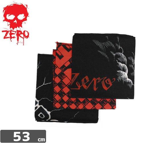 【ZERO ゼロ スケボー バンダナ】3PACK BANDANA【3枚セット】NO1