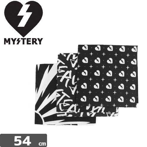【ミステリー MYSTERY スケボー バンダナ】3PACK BANDANA【3枚セット】NO1