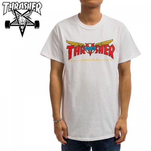 【スラッシャー THRASHER Tシャツ】VENTURE TRUCKS COLLAB T-SHIRT 【ホワイト】 NO125
