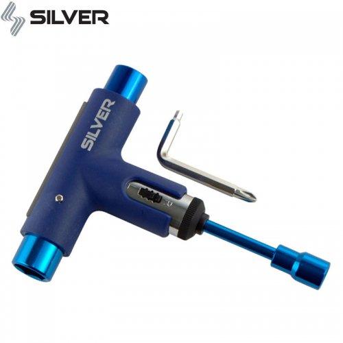 【シルバー SILVER スケボー 工具】PREMIUM TOOL ラチェット ツール SPECTRUM BLUE ブルー NO49