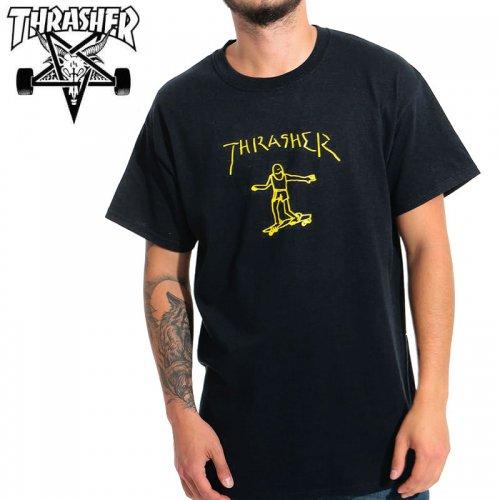【スラッシャー THRASHER Tシャツ】GONZ T-SHIRT 【ブラック】 NO126