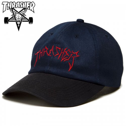 【スラッシャー THRASHER ベースボール キャップ】LOTTIES OLD TIMER SNAPBACK CAP ネイビー NO53