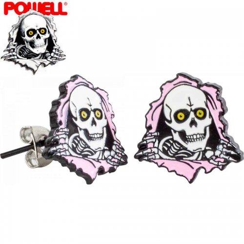【パウエル POWELL スケボー 小物 ピアス】RIPPER EARRINGS ピンク NO1