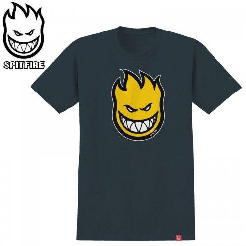 半額セール【SPITFIRE スピットファイア スケボー Tシャツ】BIGHEAD FILL TEE【インディゴ×イエロー】NO266