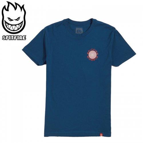 半額セール【スピットファイア SPITFIRE レディース Tシャツ】CLASSIC 87 SWIRL GIRL TEE【ブルー×レッド】NO8