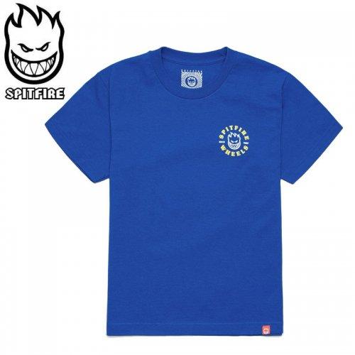 半額セール【SPITFIRE キッズ Tシャツ】BIGHEAD CLASSIC YOUTH TEE ユースサイズ 【ロイヤルブルー×ホワイト】NO69