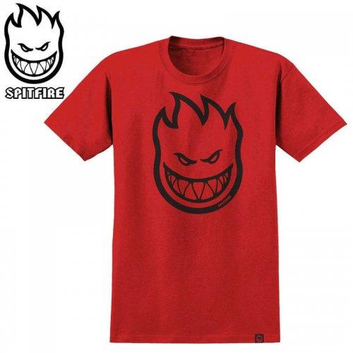 半額セール【SPITFIRE キッズ Tシャツ】BIGHEAD YOUTH TEE ユースサイズ 【レッド×ブラック】NO70