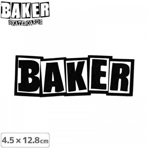【ベーカー スケボー ステッカー】BAKER LOGO STICKER 4.5cm×12.8cm ブラック NO71