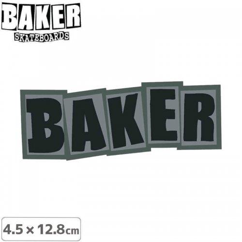 【ベーカー スケボー ステッカー】BAKER LOGO STICKER 4.5cm×12.8cm グレー NO73