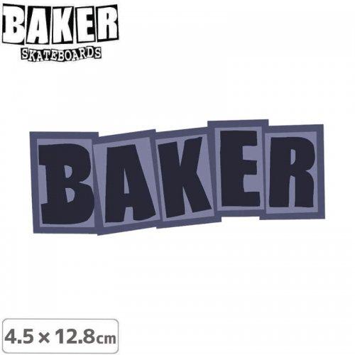 【ベーカー スケボー ステッカー】BAKER LOGO STICKER 4.5cm×12.8cm パープル NO75