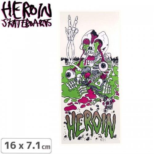 【ヘロイン HEROIN スケボー ステッカー】SCOTT SLIME BOY STICKER 16 x 7.1cm NO44