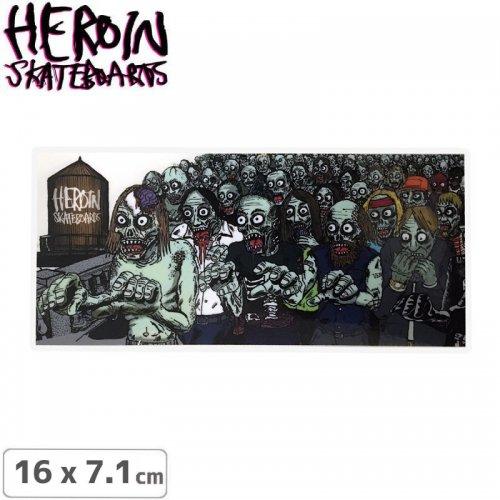 【ヘロイン HEROIN スケボー ステッカー】FRANK ZOMBIES STICKER 16 x 7.1cm NO45