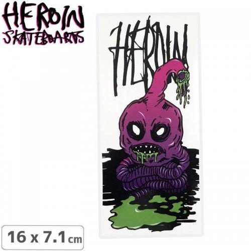 【ヘロイン HEROIN スケボー ステッカー】EVIL STOMACH STICKER 16 x 7.1cm NO47