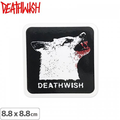 【DEATHWISH デスウィッシュ スケボー ステッカー】ONE OFF WOLF BLOOD STICKER 8.8 x 8.8cm NO146