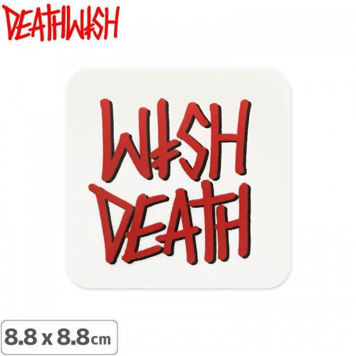 【DEATHWISH デスウィッシュ スケボー ステッカー】ONE OFF SPRAY LOGO STICKER 8.8 x 8.8cm NO147