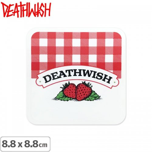 【DEATHWISH デスウィッシュ スケボー ステッカー】ONE OFF STRAWBERRY STICKER 8.8 x 8.8cm NO148