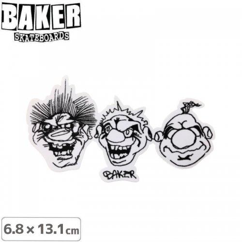 【ベーカー スケボー ステッカー】BAKER SANTINO STICKER 6.8cm×13.1cm NO76