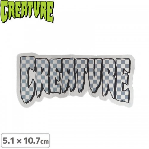 【クリーチャー CREATURE スケボー ステッカー】LOGO CHECK STICKER【5.1cmx10.7cm】NO44