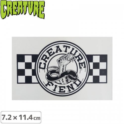 【クリーチャー CREATURE スケボー ステッカー】STRIKE FAST STICKER【7.2cmx11.4cm】NO46