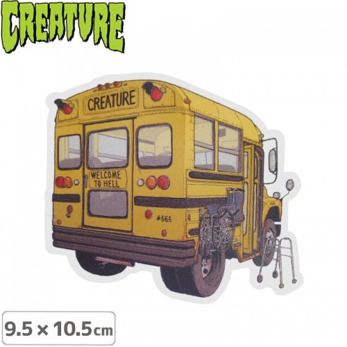【クリーチャー CREATURE スケボー ステッカー】MANIAC BUS STICKER【9.5cmx10.5cm】NO47