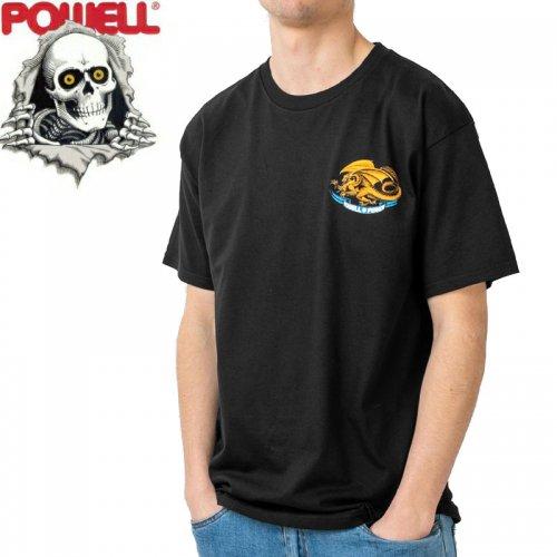 【パウエル POWELL スケボー Tシャツ】OVAL DRAGON TEE【ブラック】NO72