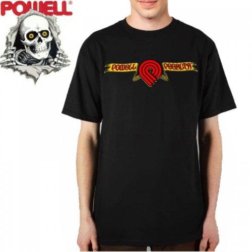 【パウエル POWELL スケボー Tシャツ】TRIPLE P SKULL & SWORD TEE【ブラック】NO73