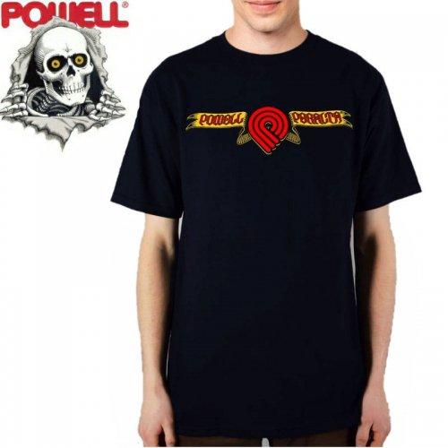 【パウエル POWELL スケボー Tシャツ】TRIPLE P SKULL & SWORD TEE【ネイビー】NO74