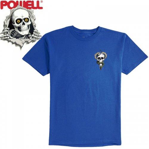 【パウエル POWELL スケボー Tシャツ】MCGILL SKULL&SNAKE TEE【ロイヤルブルー】NO75