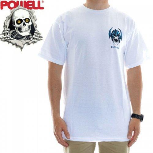 【パウエル POWELL スケボー Tシャツ】WELINDER SKULL TEE【ホワイト】NO79