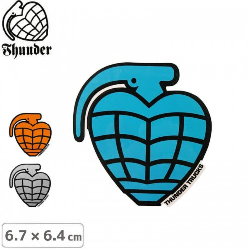 【サンダートラック THUNDERスケボー ステッカー】GRENADE DIECUT【6.7cm×6.4cm】NO52